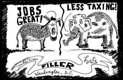 Thedailydose.com Drawing - Jobs Great  Less Taxing by Yasha Harari