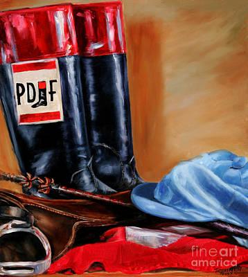 Kentucky Derby Painting - Jockey Tack by Thomas Allen Pauly