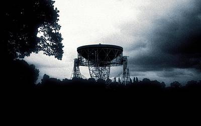 Digitally Manipulated Photograph - Jodrell Bank Observatory by Richard Kail