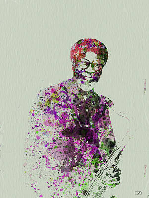 New Orleans Jazz Painting - Joe Henderson Watercolor  by Naxart Studio