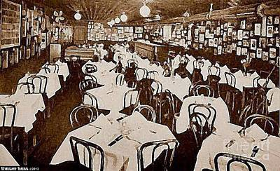 Painting - Joe King's Restaurant In New York City C1910 by Dwight Goss