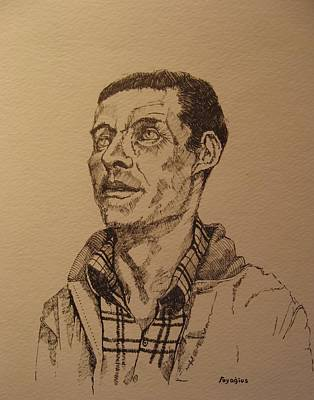 Tribute Drawing - Joe by Ray Agius
