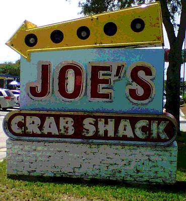 Photograph - Joe's Crab Shack by George Pedro