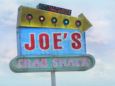 Photograph - Joe's Crab Shack Retro Sign by Kathleen Grace