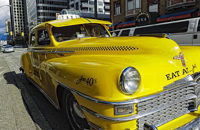 Checker Cab Photograph - Joes Limo by Paul W Sharpe Aka Wizard of Wonders