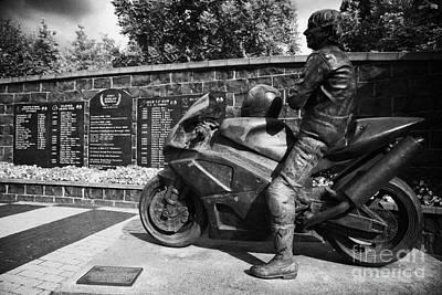 Joey Dunlop Memorial Garden Ballymoney Art Print by Joe Fox