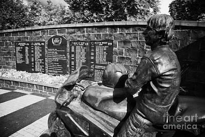 Joey Dunlop Memorial Garden In Ballymoney County Antrim Art Print by Joe Fox