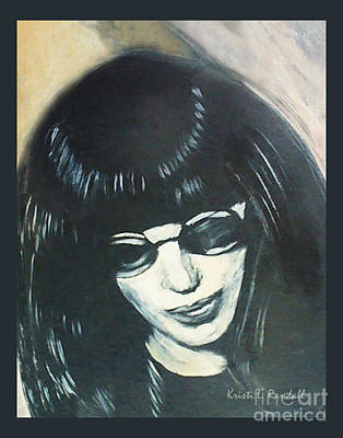 Joey Ramone The Ramones Portrait Art Print by Kristi L Randall
