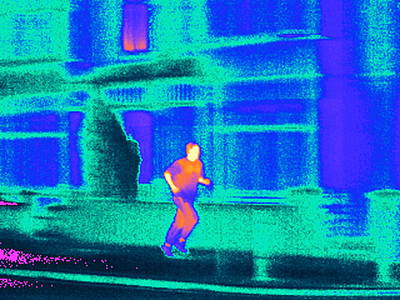 Jogging, Thermogram Art Print by Tony Mcconnell