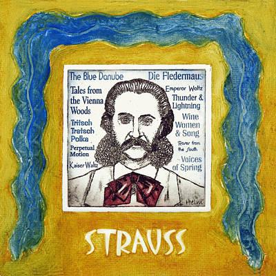 Johann Strauss II Art Print by Paul Helm