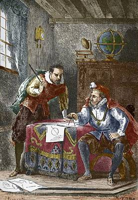 Prague Drawings Photograph - Johannes Kepler And Tycho Brahe by Sheila Terry