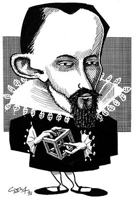 Platonic Photograph - Johannes Kepler, Caricature by Gary Brown