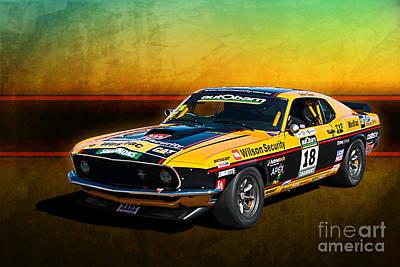 Photograph - John Bowe Mustang Front View by Stuart Row