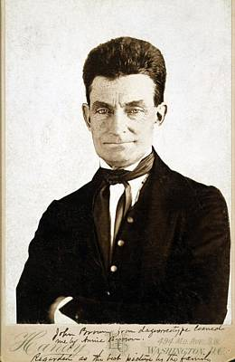 Black History Photograph - John Brown 1800-1859, Cabinet Card by Everett