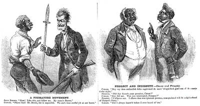 Abolition Photograph - John Brown Cartoon, 1859 by Granger
