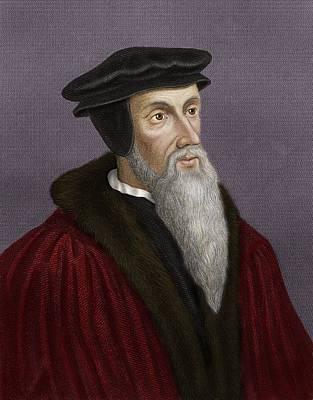 Pastors Photograph - John Calvin, French Theologian by Maria Platt-evans