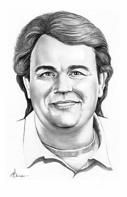 Famous People Drawing - John Candy by Murphy Elliott