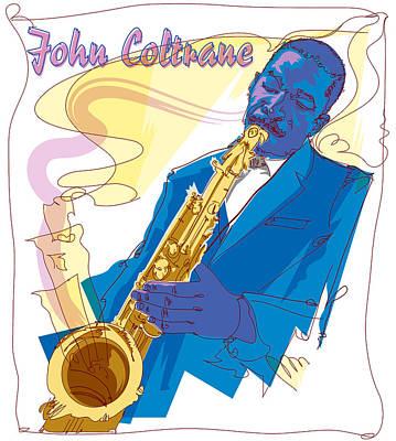 Jazz Royalty Free Images - John Coltrane 1 Royalty-Free Image by Garth Glazier