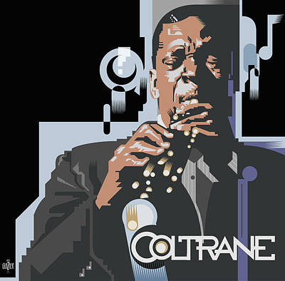 Jazz Royalty-Free and Rights-Managed Images - John Coltrane Abstract by Garth Glazier