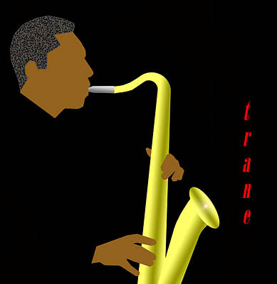 Mile Digital Art - John Coltrane by Victor Bailey