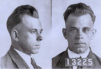 Escapees Photograph - John Dillinger 1903-1934, In Mugshot by Everett
