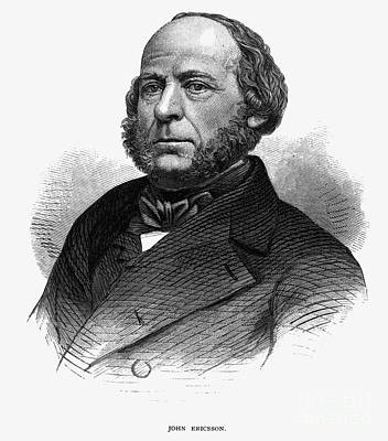 Photograph - John Ericsson (1803-1889) by Granger