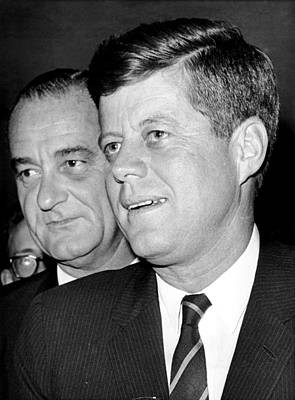 Lyndon Photograph - John F. Kennedy And Lyndon B. Johnson by Everett