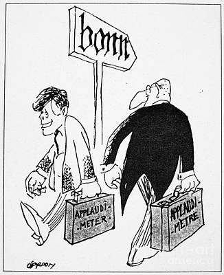 Photograph - John F. Kennedy Cartoon by Granger