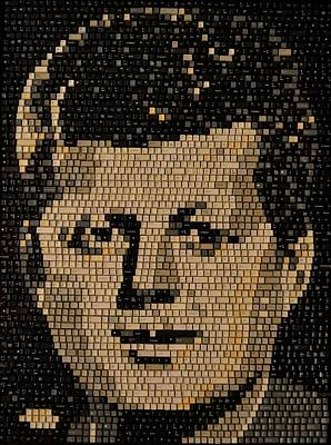 Mixed Media - John F Kennedy by Doug Powell