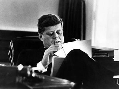 John F. Kennedy, In His Office Art Print by Everett