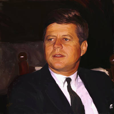 Painting - John Fitzgerald Kennedy by Nop Briex