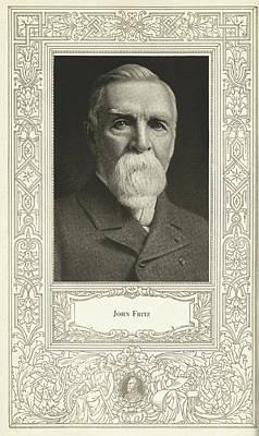 John Fritz, American Mechanical Engineer Art Print