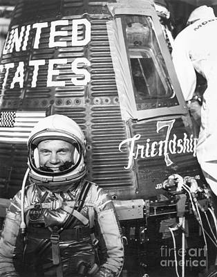 Photograph - John Glenn, 1962 by Granger