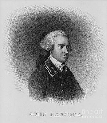 Colonial Man Photograph - John Hancock, American Patriot by Photo Researchers