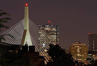 John Hancock Tower And Zakim Bridge Art Print