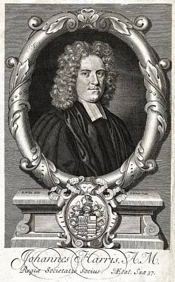 1704 Photograph - John Harris, English Writer by Middle Temple Library