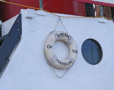 Photograph - John J Harvey Fireboat Hero by Margie Avellino
