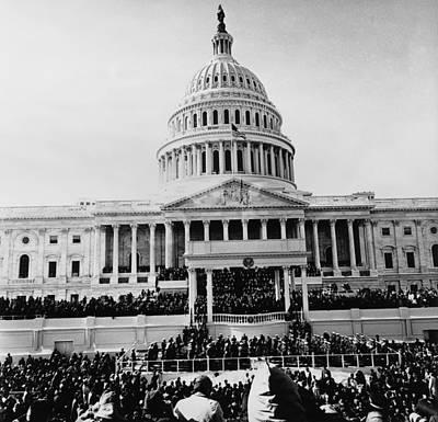 Swearing In Photograph - John Kennedy Is Sworn In As 35th by Everett