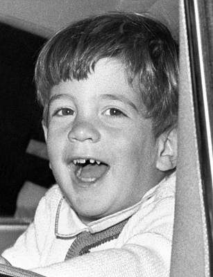 Missing Child Photograph - John Kennedy Jr. Smiles by Everett