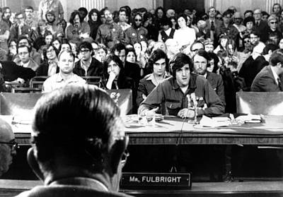 Fulbright Photograph - John Kerry Giving Testimony by Everett