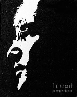 John Lennon Hi Contrast Print by Kenneth Regan
