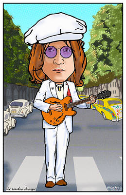 Fab Four Digital Art - John Lennon by John Goldacker