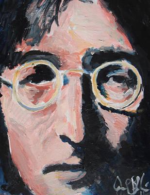 John Lennon  Art Print by Jon Baldwin  Art