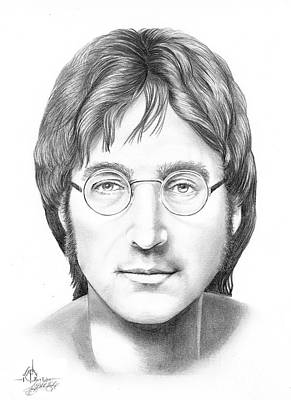 Beatles Drawing - John Lennon by Murphy Elliott