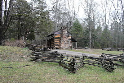 Photograph - John Oliver Cabin by Lawrence Scott