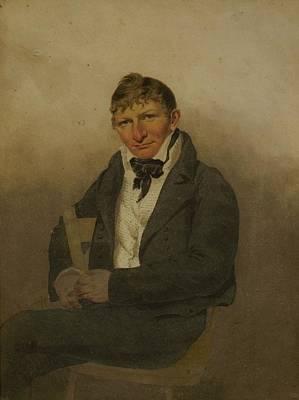 Self-portrait Photograph - John Rubens Smith 1775-1849, American by Everett