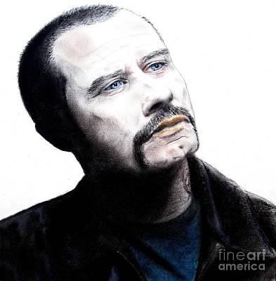 Olivia Drawing - John Travolta In The Taking Of Pelham 123  by Jim Fitzpatrick