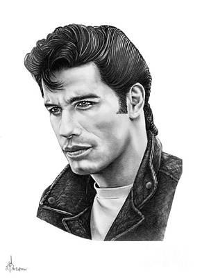 Famous People Drawing - John Travolta by Murphy Elliott