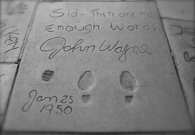 Photograph - John Wayne Memory by Kume Bryant