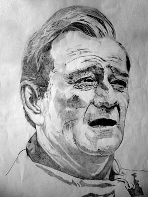 John Wayne - Small Art Print by Robert Lance